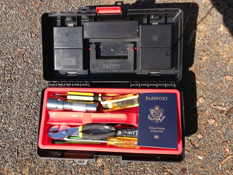 passport in toolbox